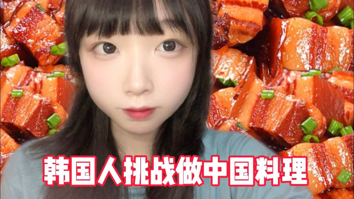 【韩国少女DINA】厨艺挑战!最爱红烧肉!成功了么?
