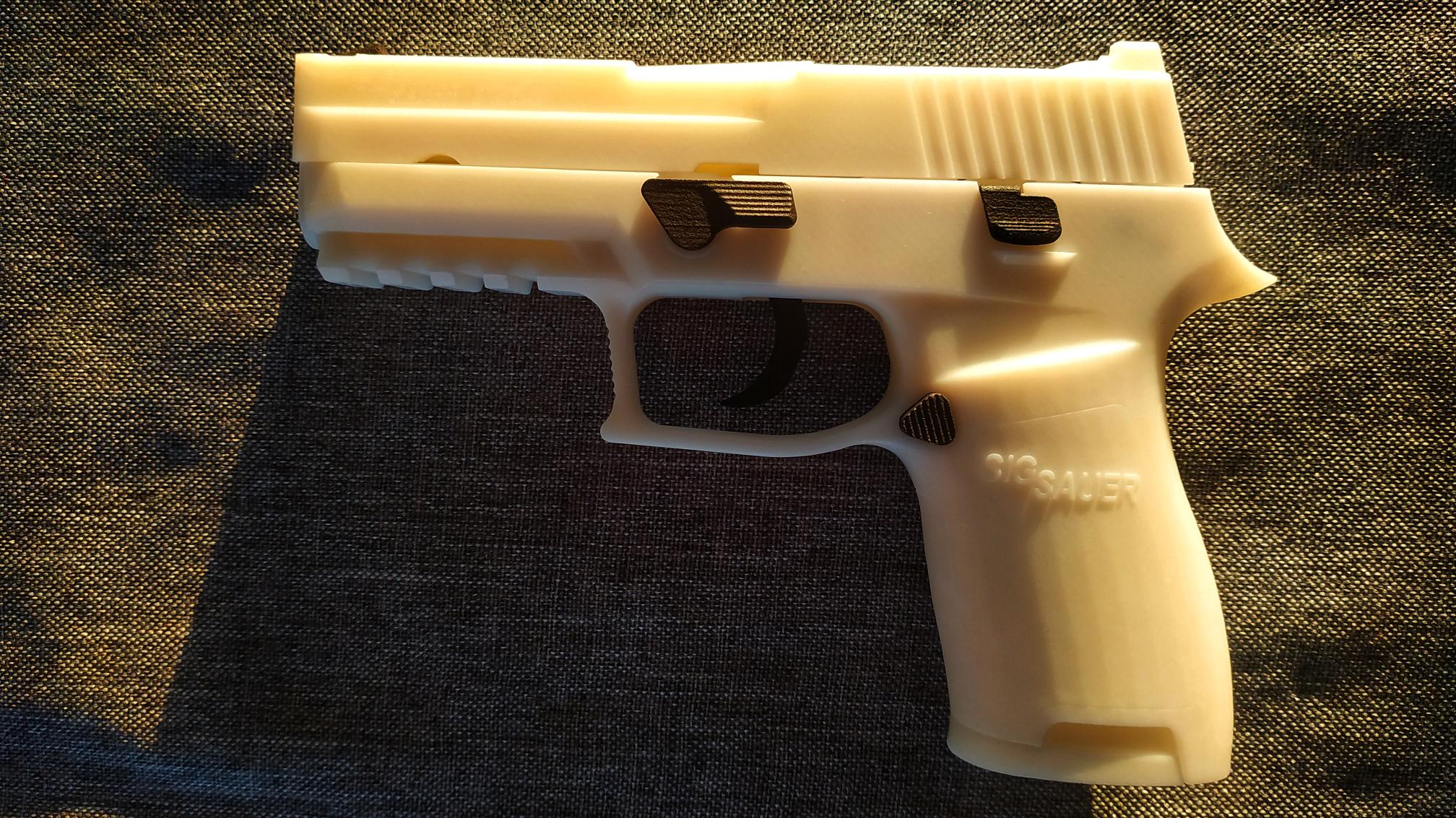 SIG P250完全分解安装教程——3D打印不可发射树脂模型