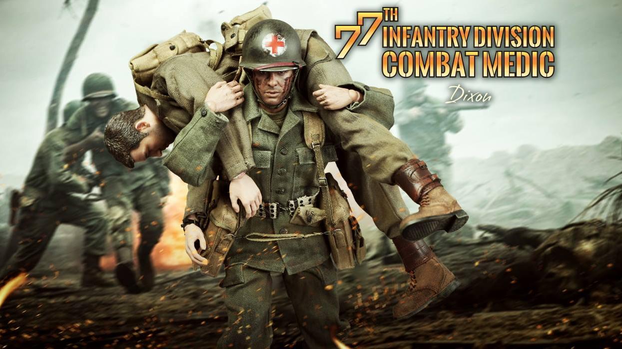 开封兵人详细测评:DID 血战钢锯岭 80126 二战美国陆军第77步兵师医疗兵