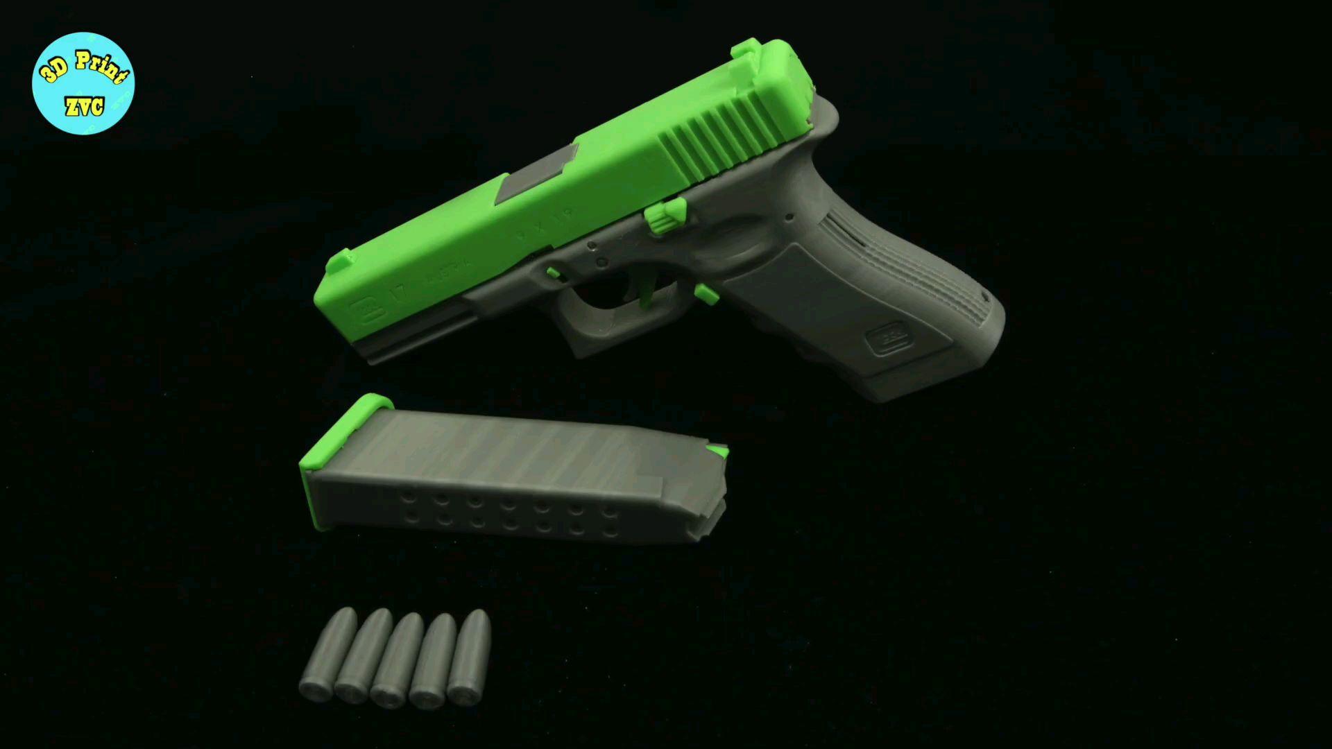 [油管搬运]3D打印模型 格洛克G17