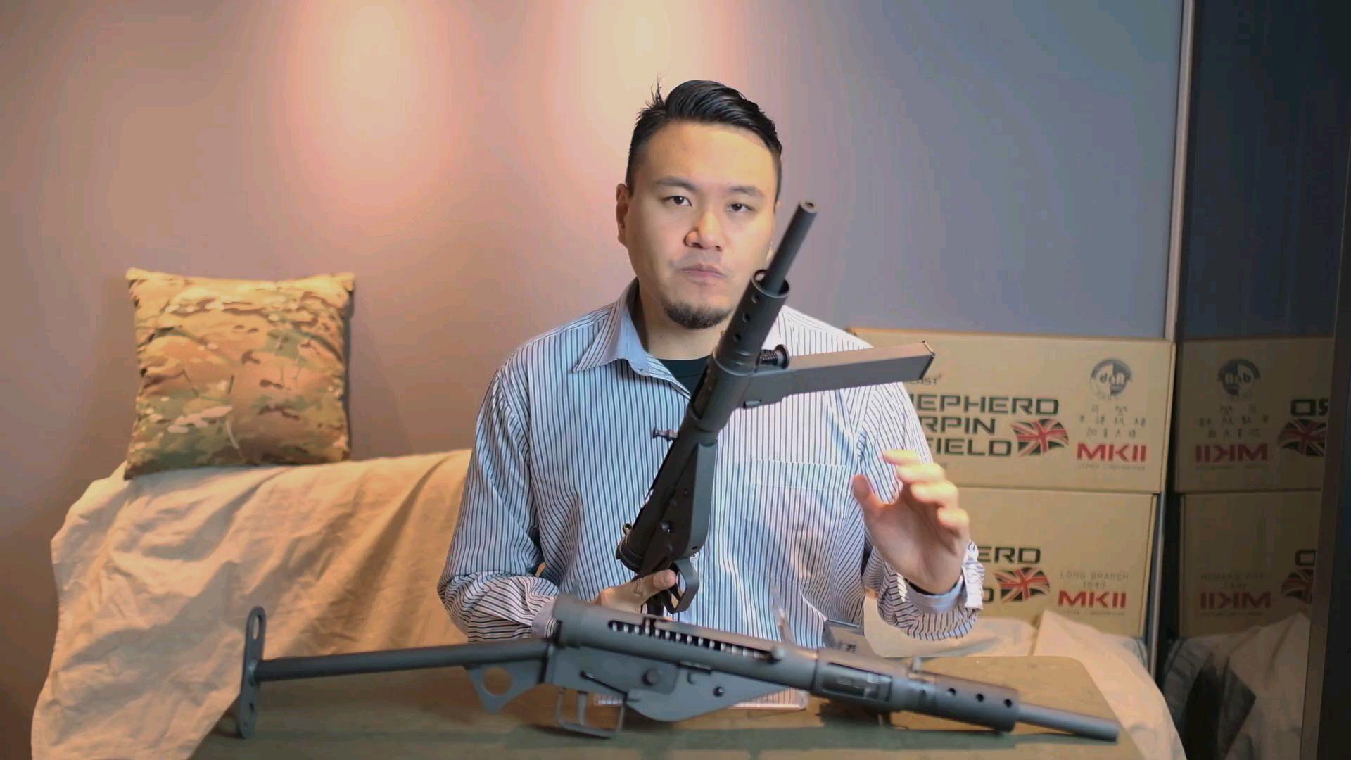 [油管搬运]台湾省玩家开箱评测司登MK2 玩具枪