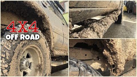 【洗车】满身泥巴的越野车