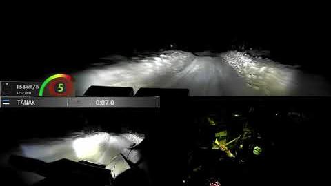 WRC2021芬兰站-车载视角雪地夜间模式(Tänak-Järveoja)