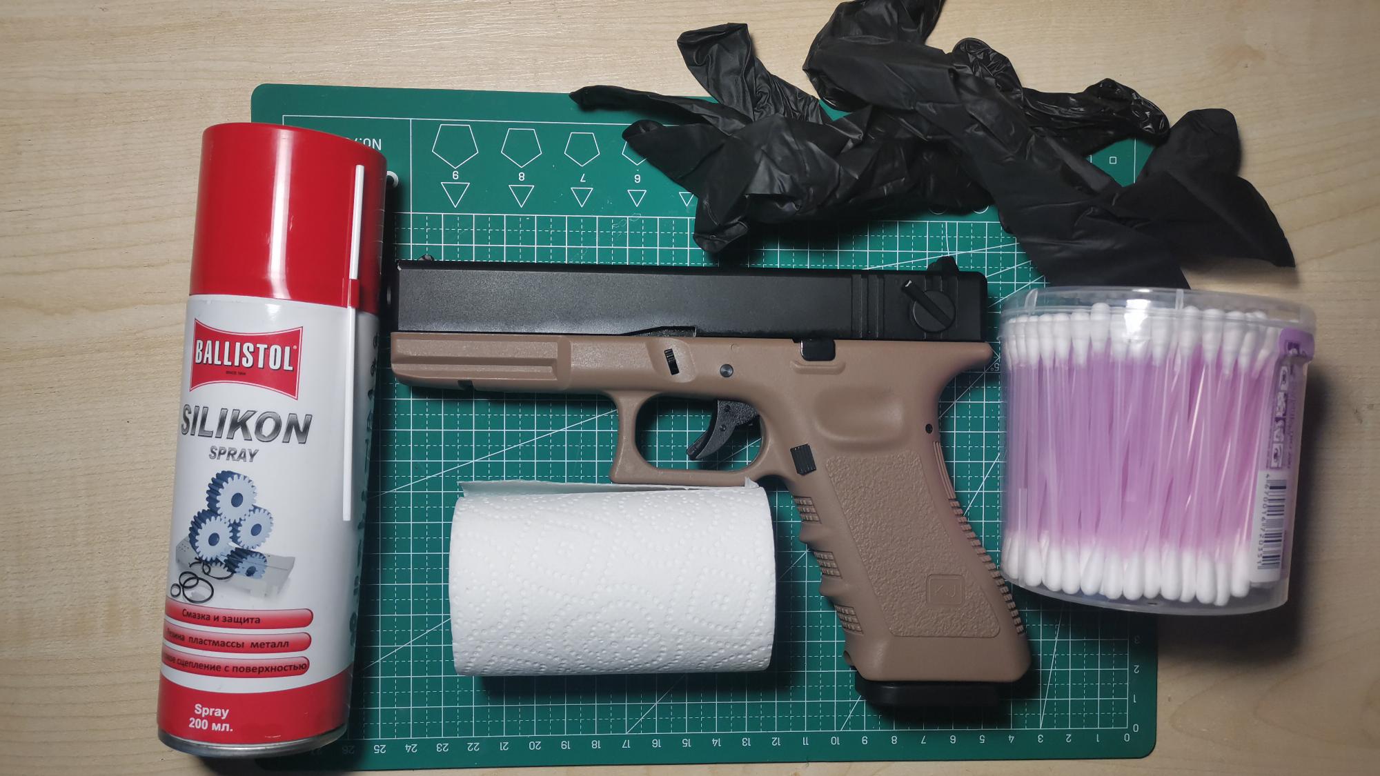 [海外拍摄]清洁保养KJW格洛克G18玩具 无人声