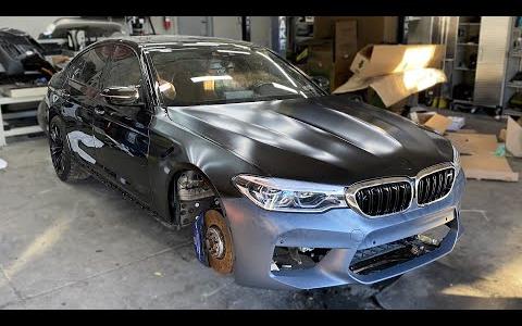2018款 宝马 M5 F90 事故车修复|第五集