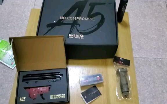 【Airsoft】海外ldt hk416a5套件开箱