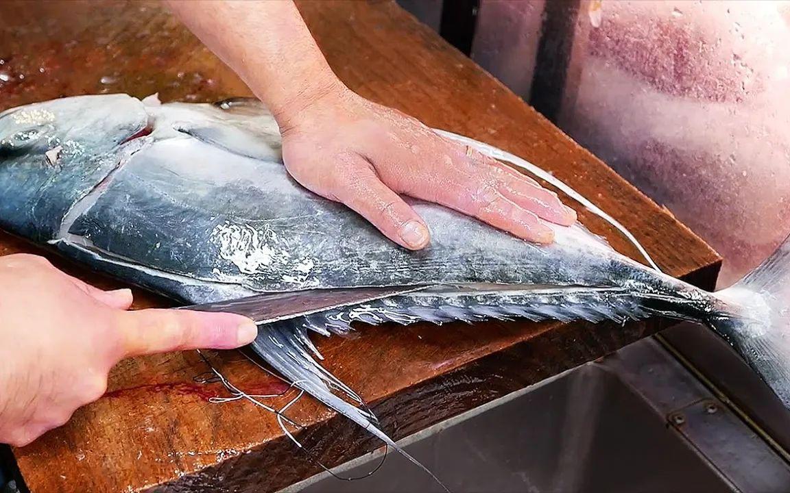 日本冲绳巨型大鲭鱼,一鱼三吃,超美味!