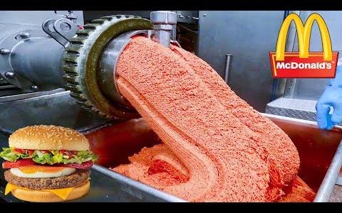 麦当劳的汉堡是如何制成的?现代食品生产线| 汉堡工厂