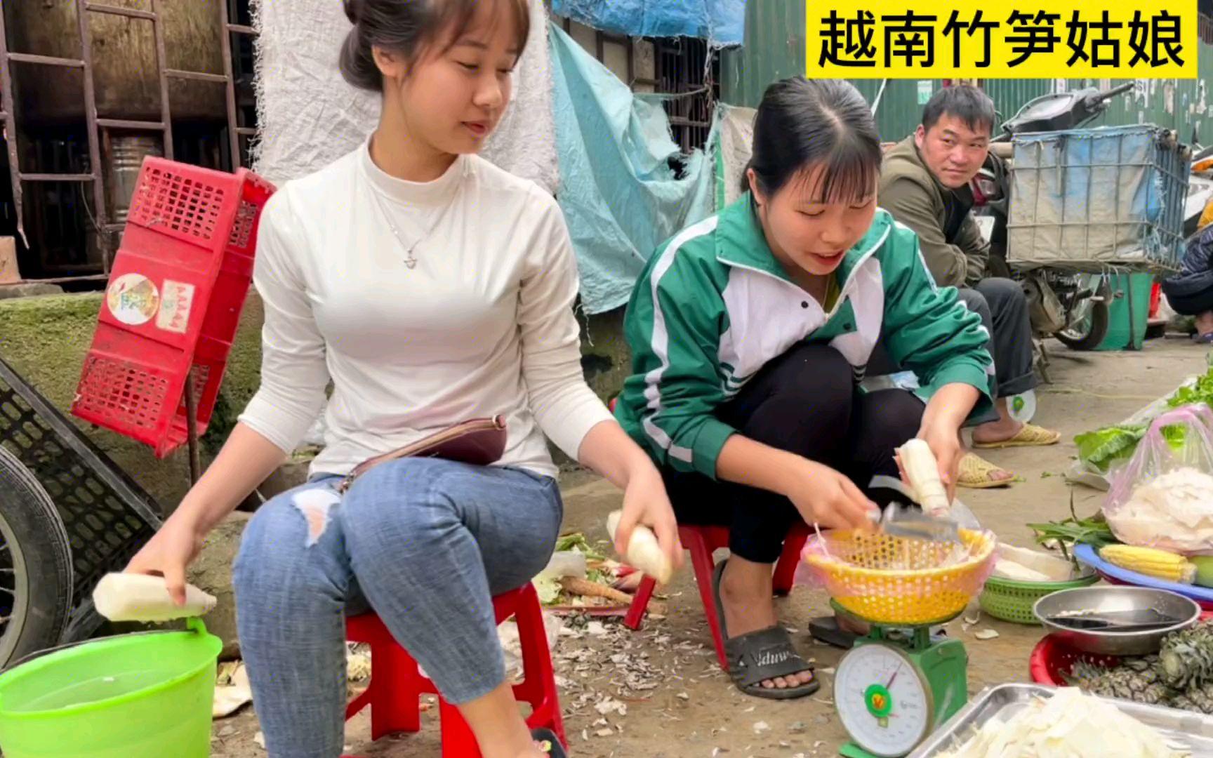 小伙问越南竹笋妹想不想嫁给他,看妹子怎么回答?