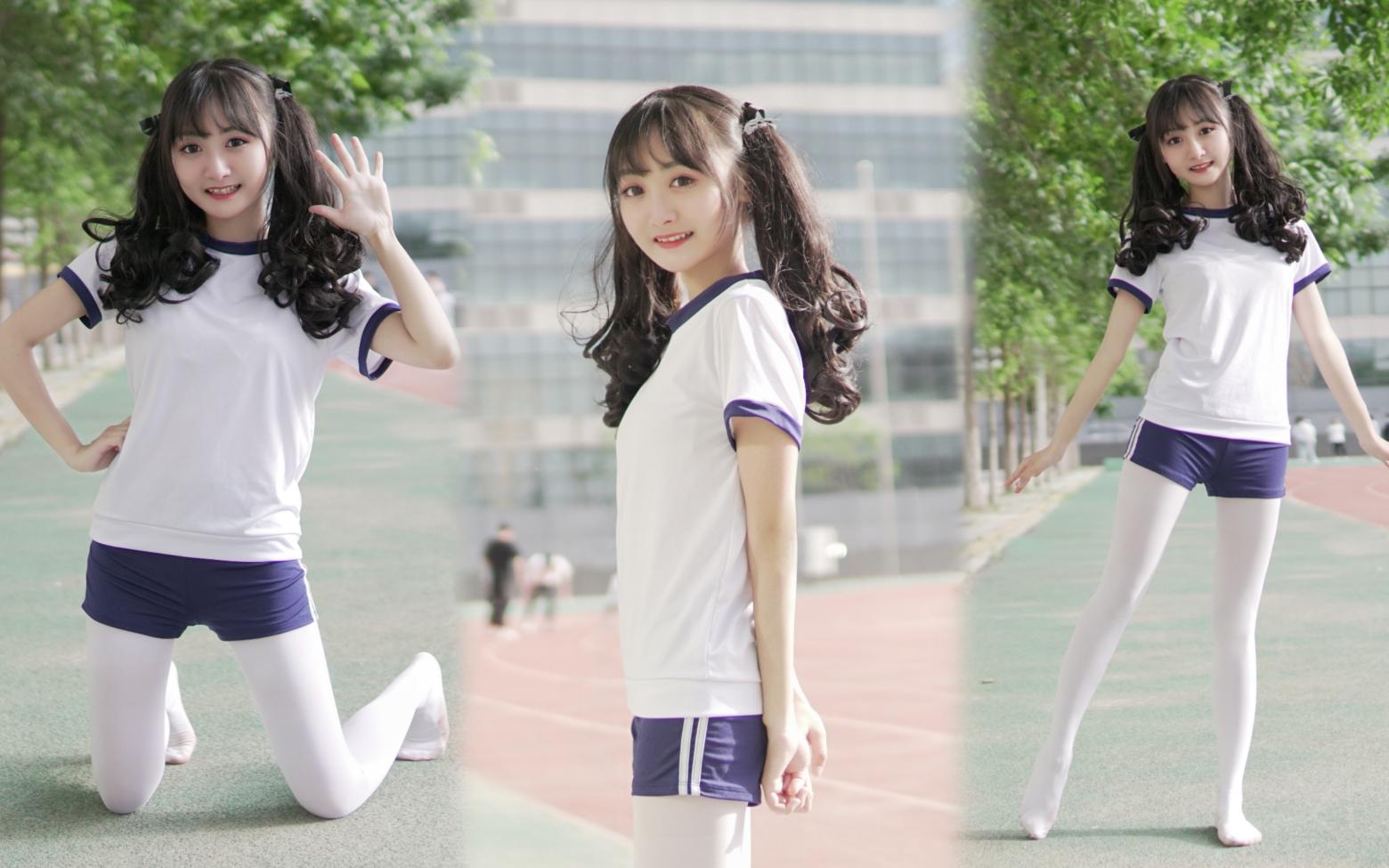 光jio体操服在学校操场跳舞也太羞耻了!【出道616第二季】
