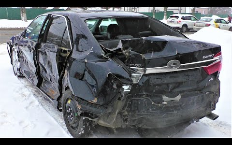 丰田凯美瑞事故车修复翻新