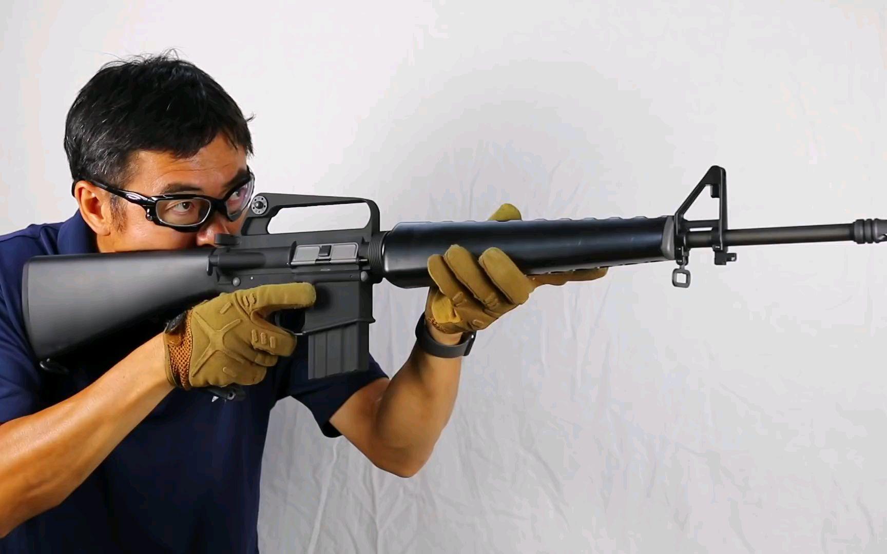 日本大叔测评气动回膛WE M16A1