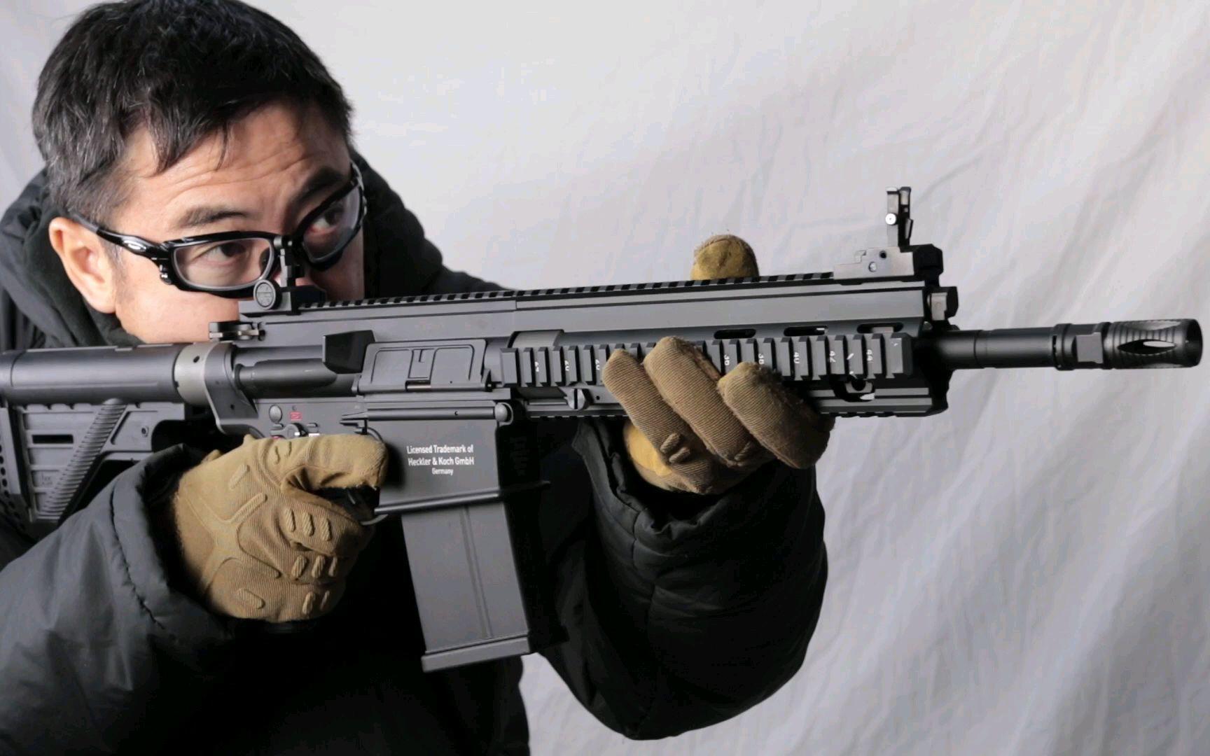 【壕堺大叔】KSC HK417A2 气动回膛玩具枪测评