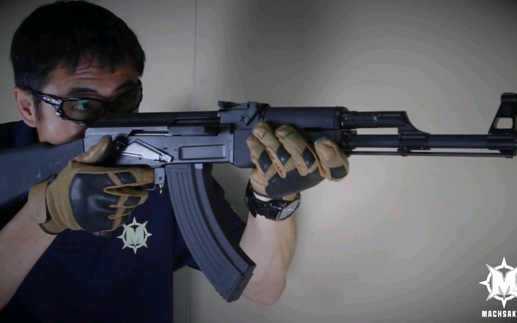 【壕堺大叔】G&G(中華)RK47(AK47)电动airsoft测试