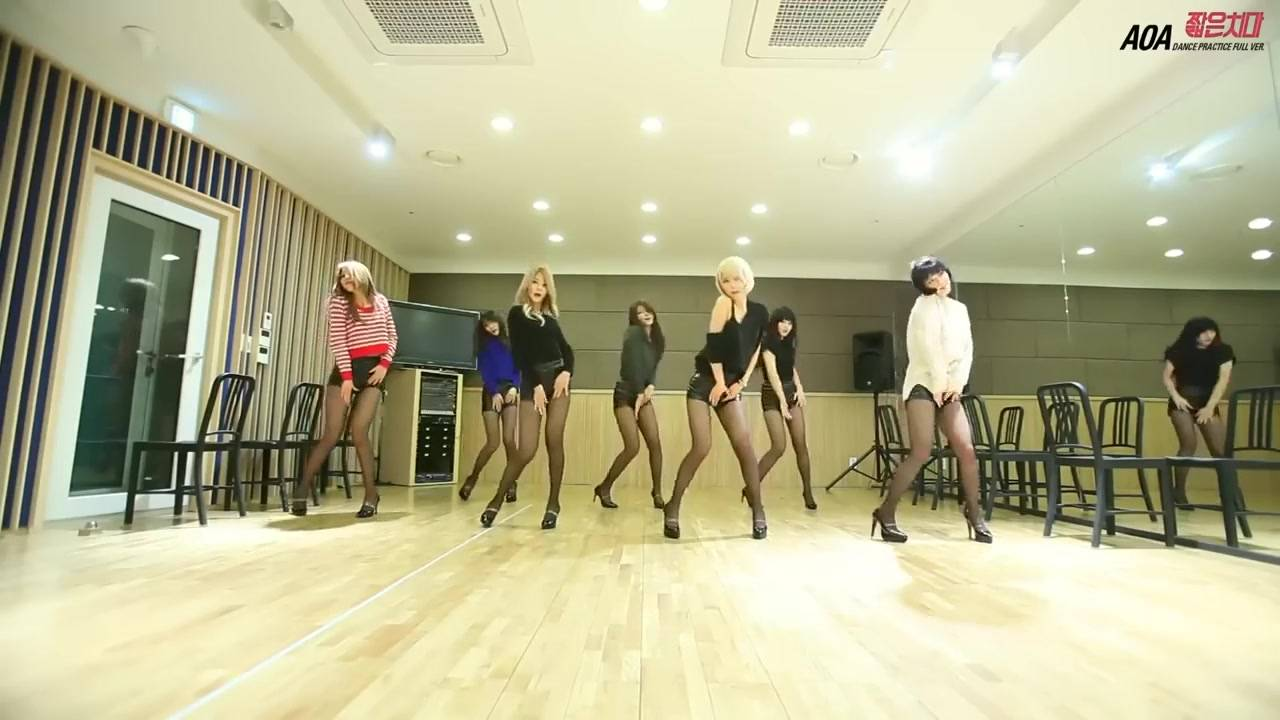 AOA - 短裙 练习室版 中韩字幕