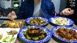 【Mok-bang】BJ奔驰 松茸鲍鱼+东坡肉+奶油虾+鱼香冬菇+面包虾+海鲜面+炸酱面(