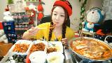 【棒子吃货女主播】花蟹汤(大)+烤猪肉+软骨+蛋羹+饭团 【朴舒妍】