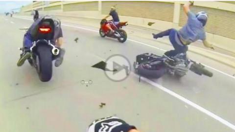 2015摩托事故集锦