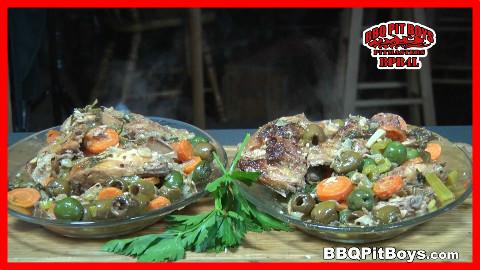 【soso字幕】美国佬土豪BBQ吃法 橄榄炖兔肉 @Sofronio