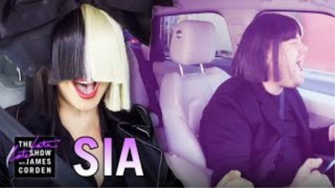 【詹姆斯科登深深夜秀】和Sia拼车K歌【生肉英语字幕】