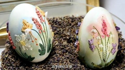【刺绣展示】蛋壳刺绣 / 蛋面上的丝带绣(分P注意)