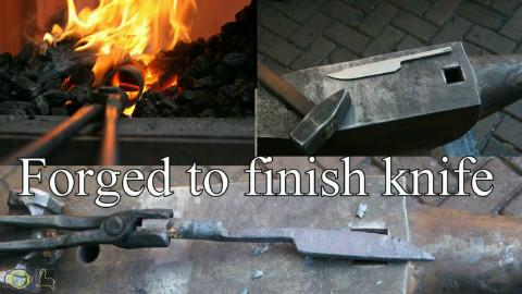 从一根钢棒到锻出刀坯