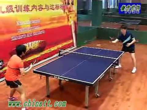 乒乓球九级训练内容与达标标准 反手推挡或拨球