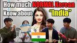 how much normal korean know about india?│quiz on india