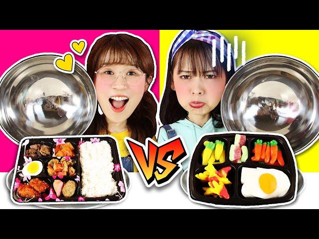 真假食物大對決之到底是真的食物呢還是啫喱糖呢 real food or the jelly candies 小伶玩具   xiaoling toy