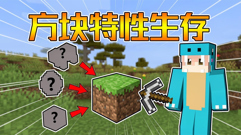 方块全部随机 你还能活多久? 方块特性生存#1