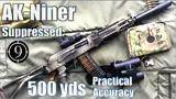 suppressed ak niner to 500yds: practical accuracy (saiga 5.56 base rifle,spetsnaz ak102 concept