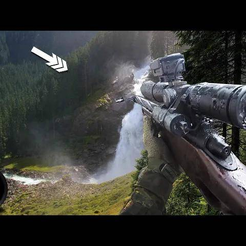 super long range airsoft sniping (mountain sniper mission