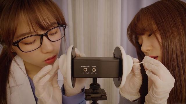 【助眠向】医生和护士一起帮你清理耳朵污垢~