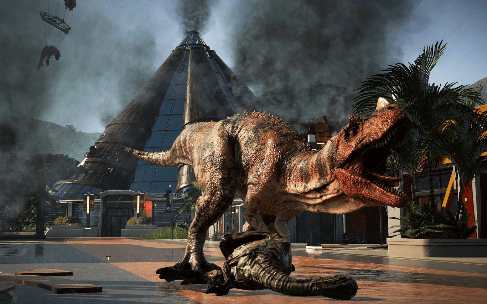 《侏罗纪世界: 进化》食肉龙全体暴动, 公园接近倒闭