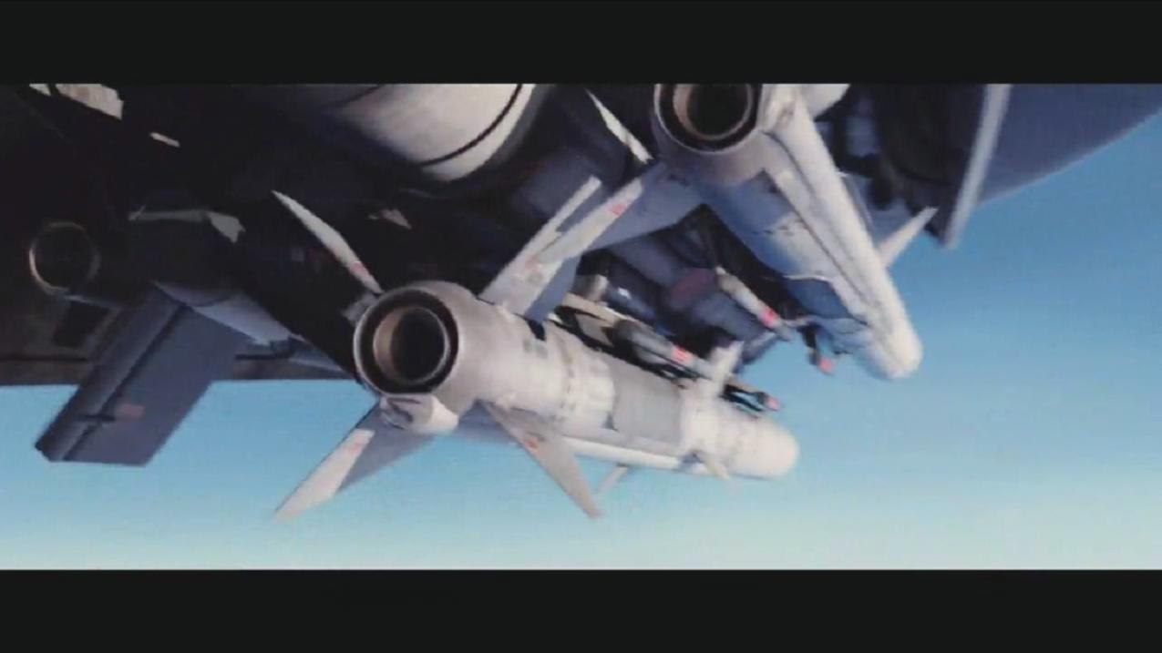 顶级科幻片, 无人战机强势苏醒, 混战苏式侧卫战机, 看的热血沸腾