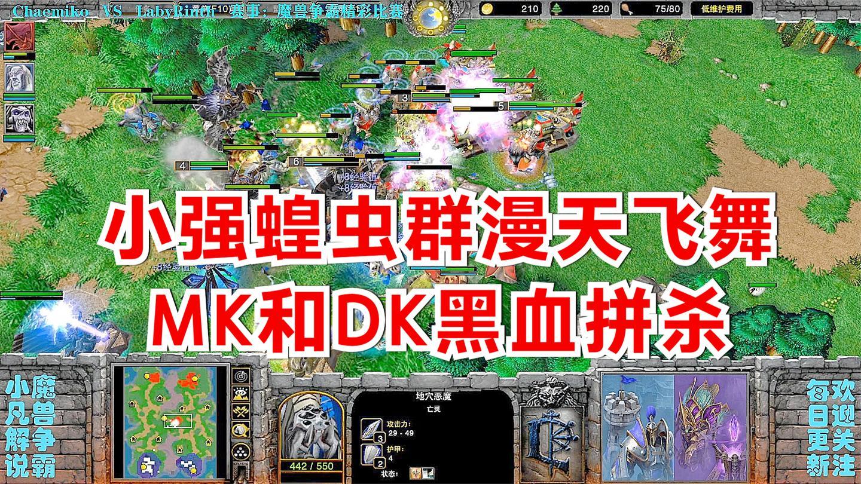 小强蝗虫群漫天飞舞, MK和DK黑血拼杀 精彩魔兽比赛