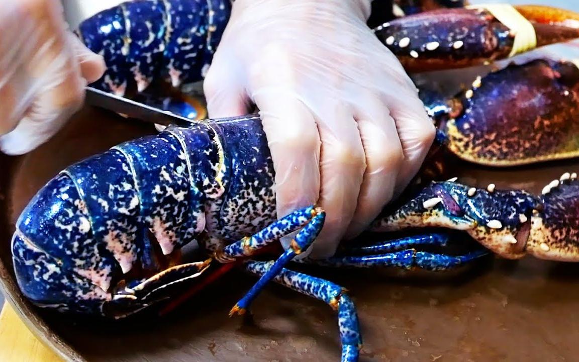 美国美食 - 蓝色龙虾 生鱼片 布鲁克林 海鲜 纽约