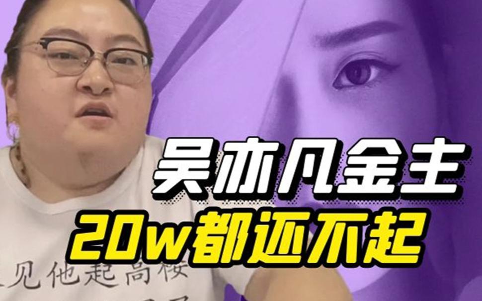 保吴亦凡的金主,20w都还不起,女儿卖了1.6亿的房