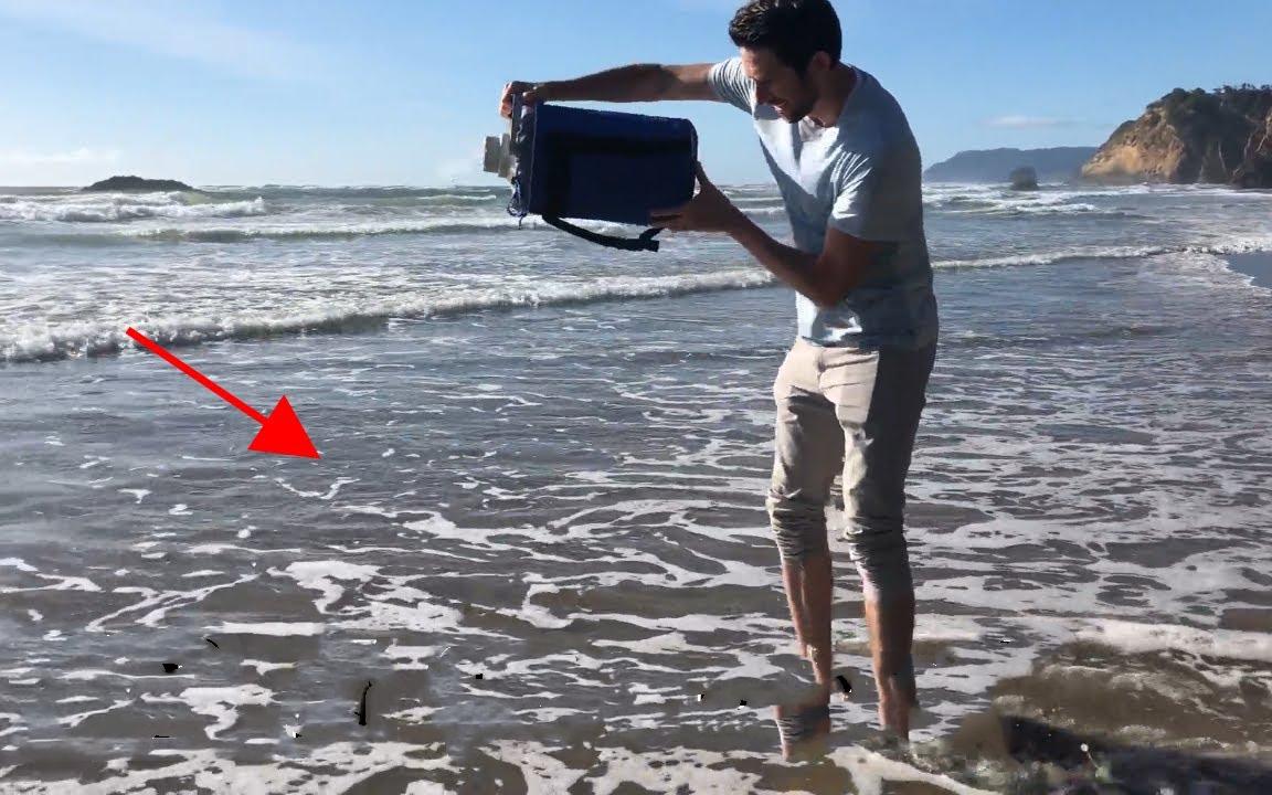 液氮能冻住海洋吗?老外大胆实验太惊艳了,这场面还是第一次见!