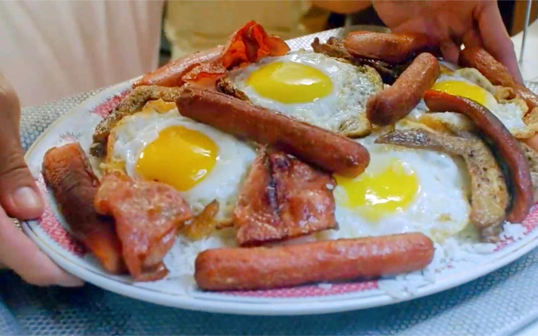 【盘点】港片碟头饭:吴耀汉吃超大份火腿鸡蛋饭,邹兆龙吃碟头饭配奶茶