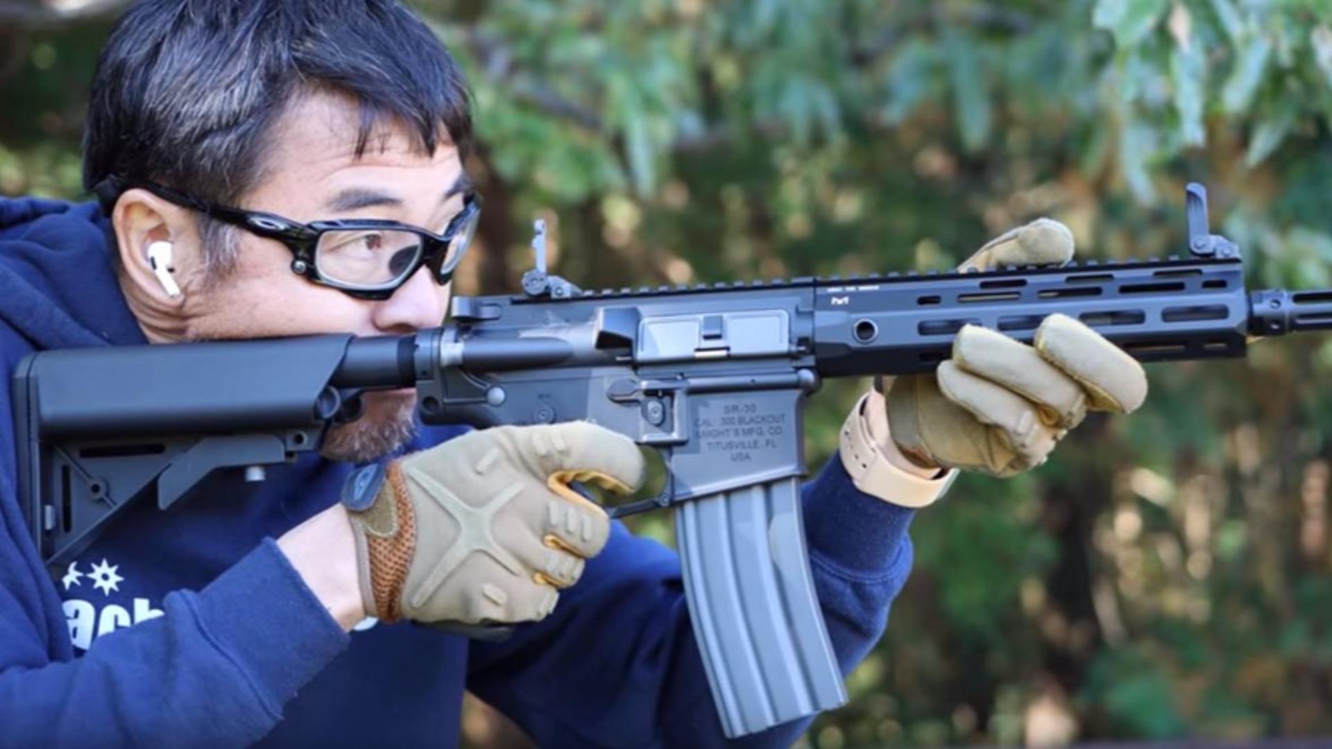 日本壕堺大叔:G&G SR30 M-LOK电动力 测评!