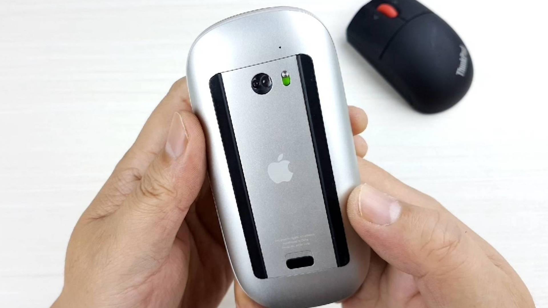 拆解苹果第一代触控鼠标,看内部的做工和设计,显微镜下观察芯片