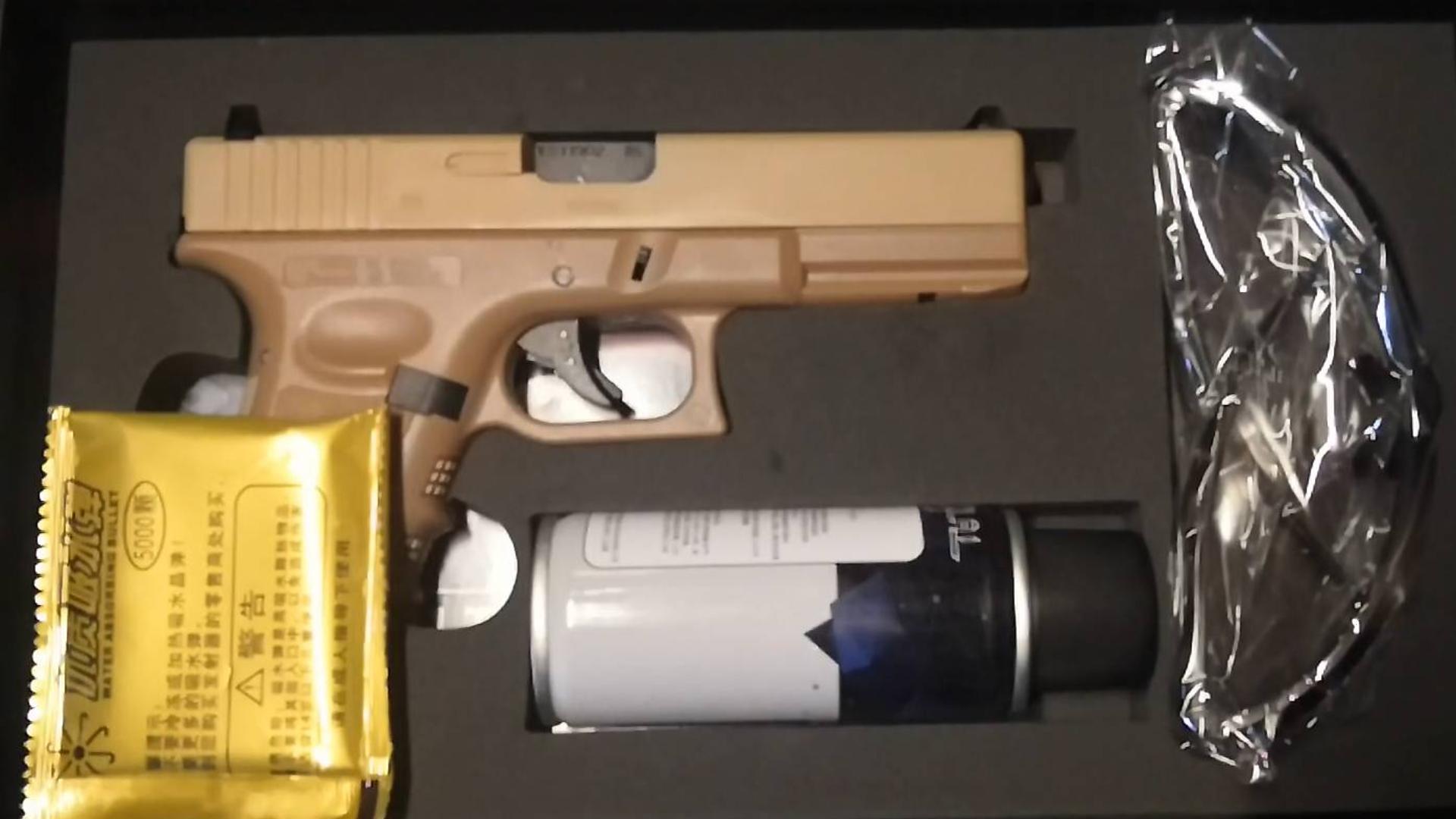 忽必烈P1(沙色)合法水弹玩具模型开箱