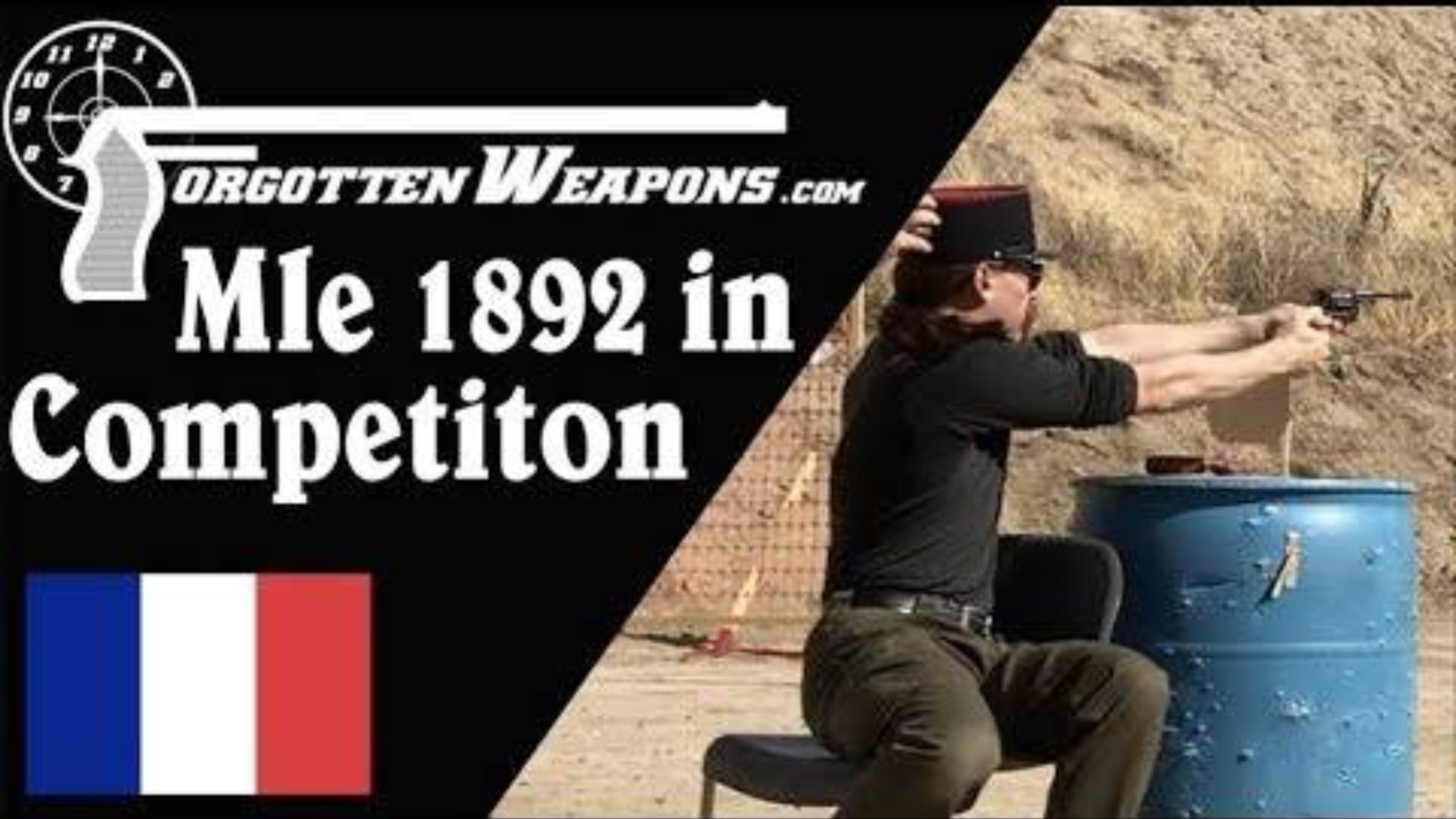 【被遗忘的武器/双语】法国M1892转轮手枪实战测试--后备用枪挑战赛