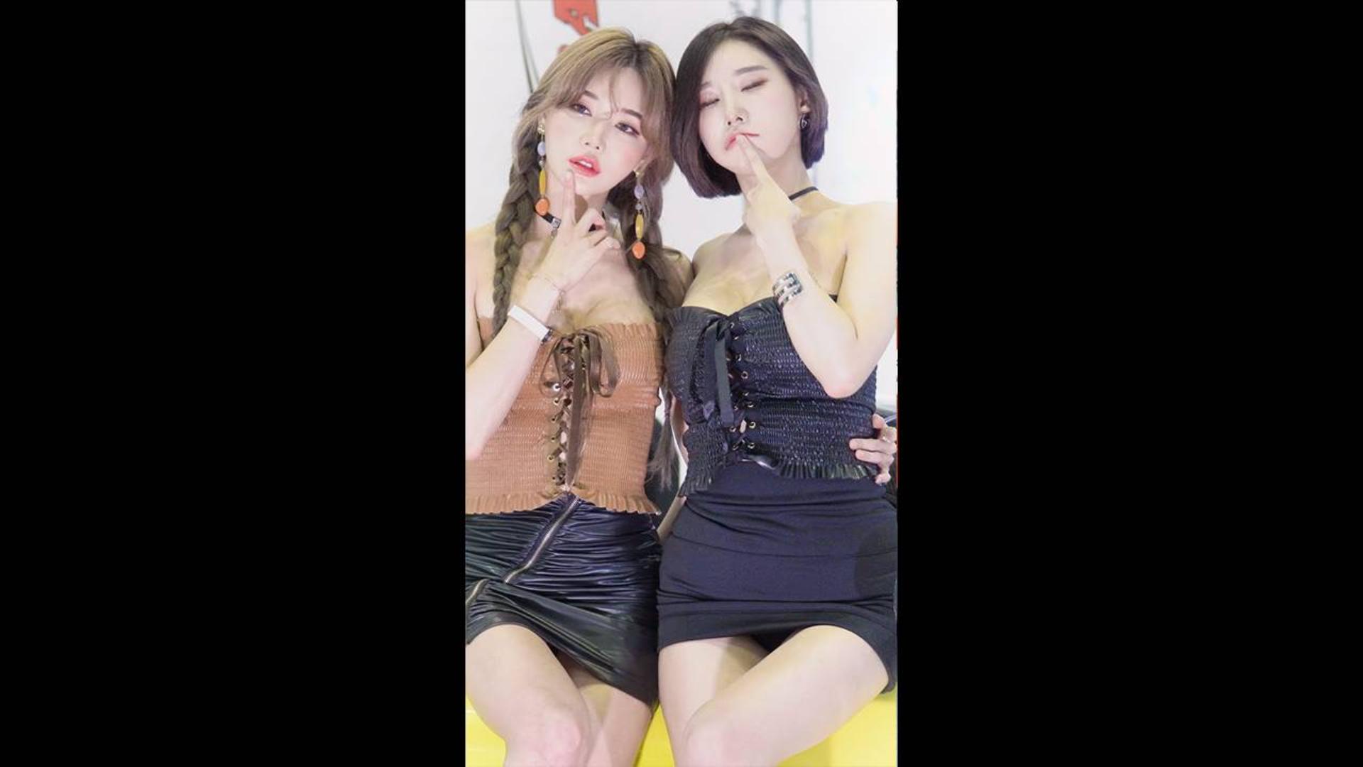 2019 汽车沙龙周 模特 - 宋珠儿{송주아} & 우주안[Woo Juan]