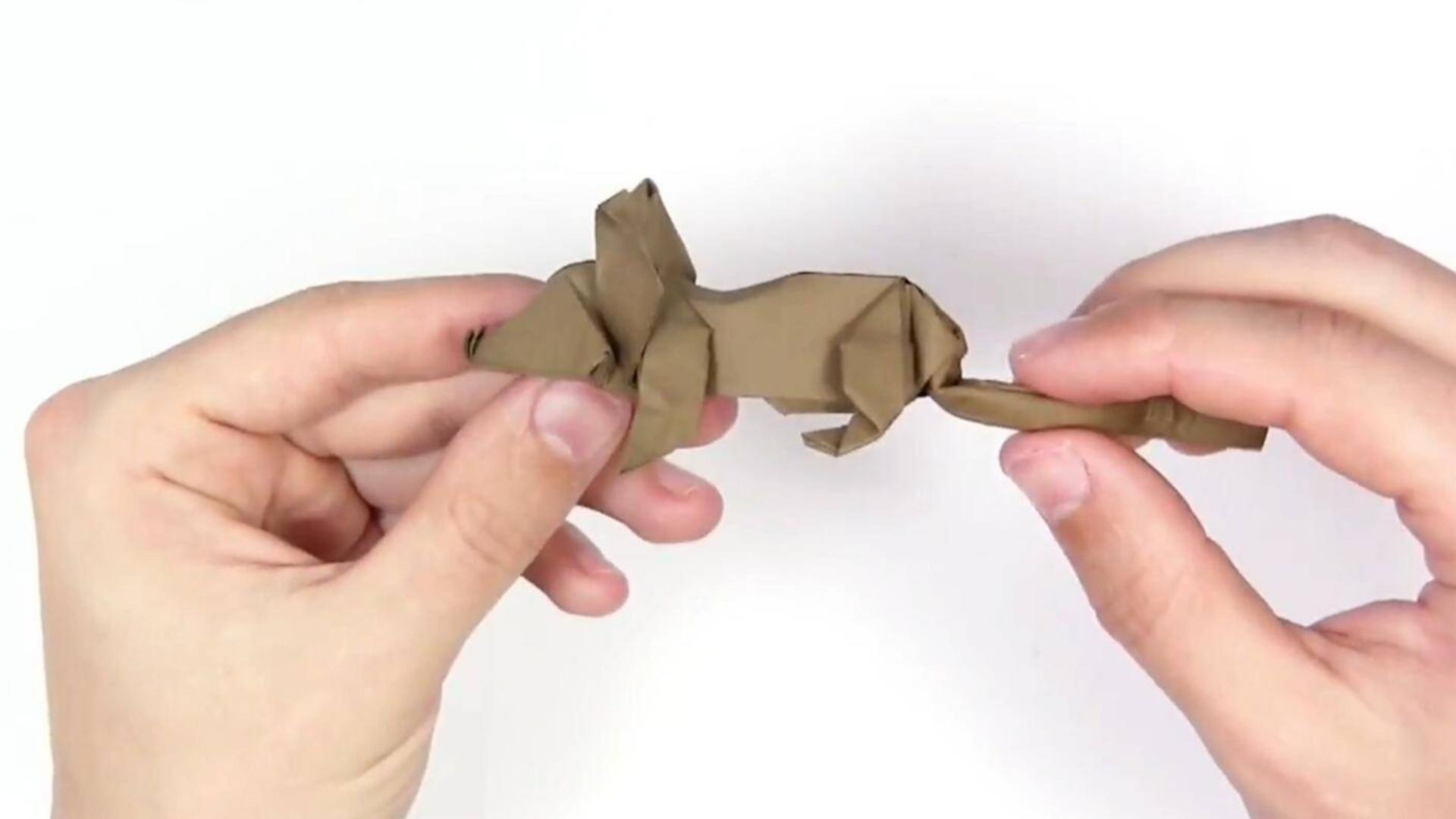 鼠年快到了,教你折纸立体小老鼠,生动活泼,惟妙惟俏!