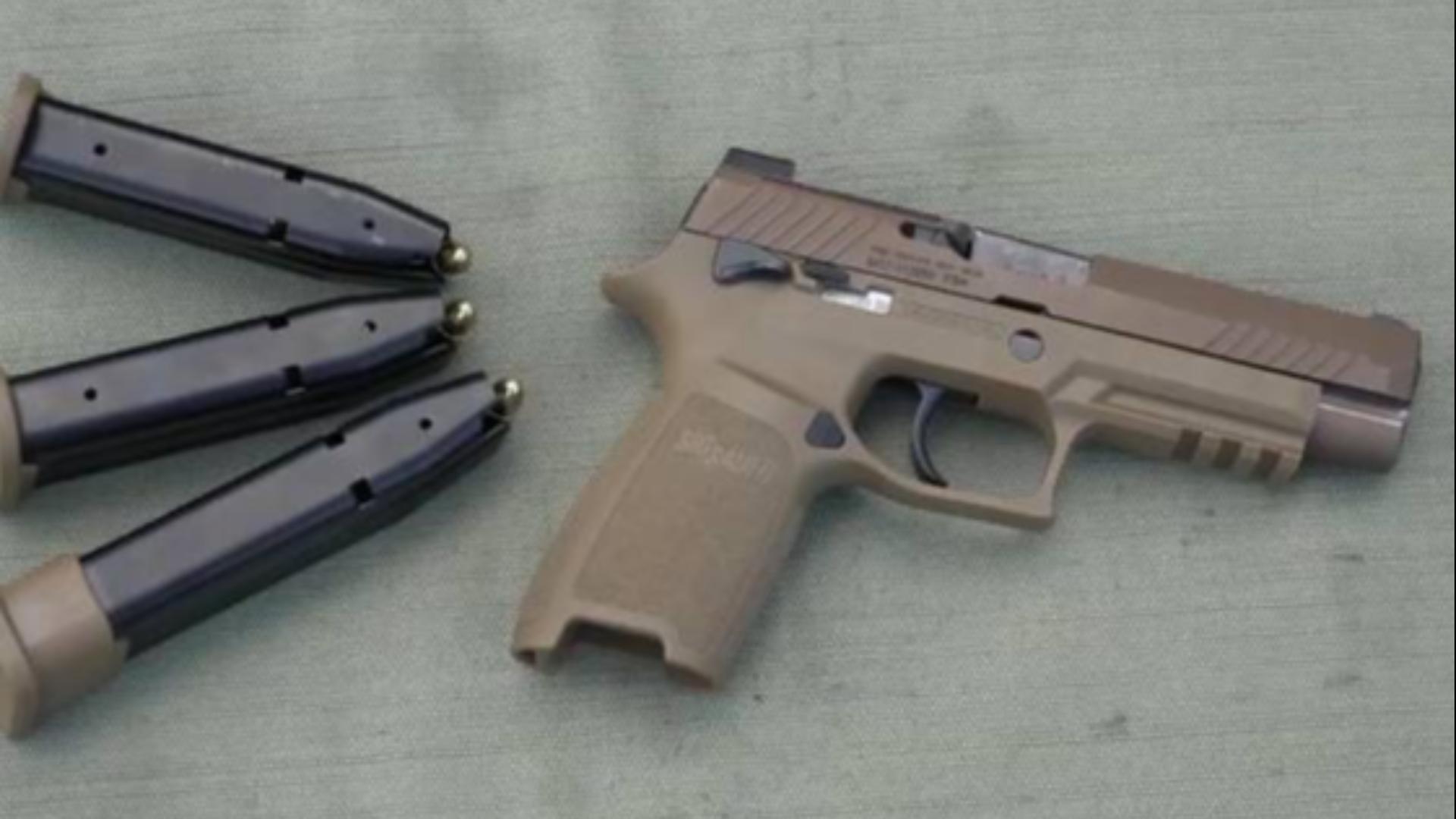 西格绍尔M17 P320型手枪射击