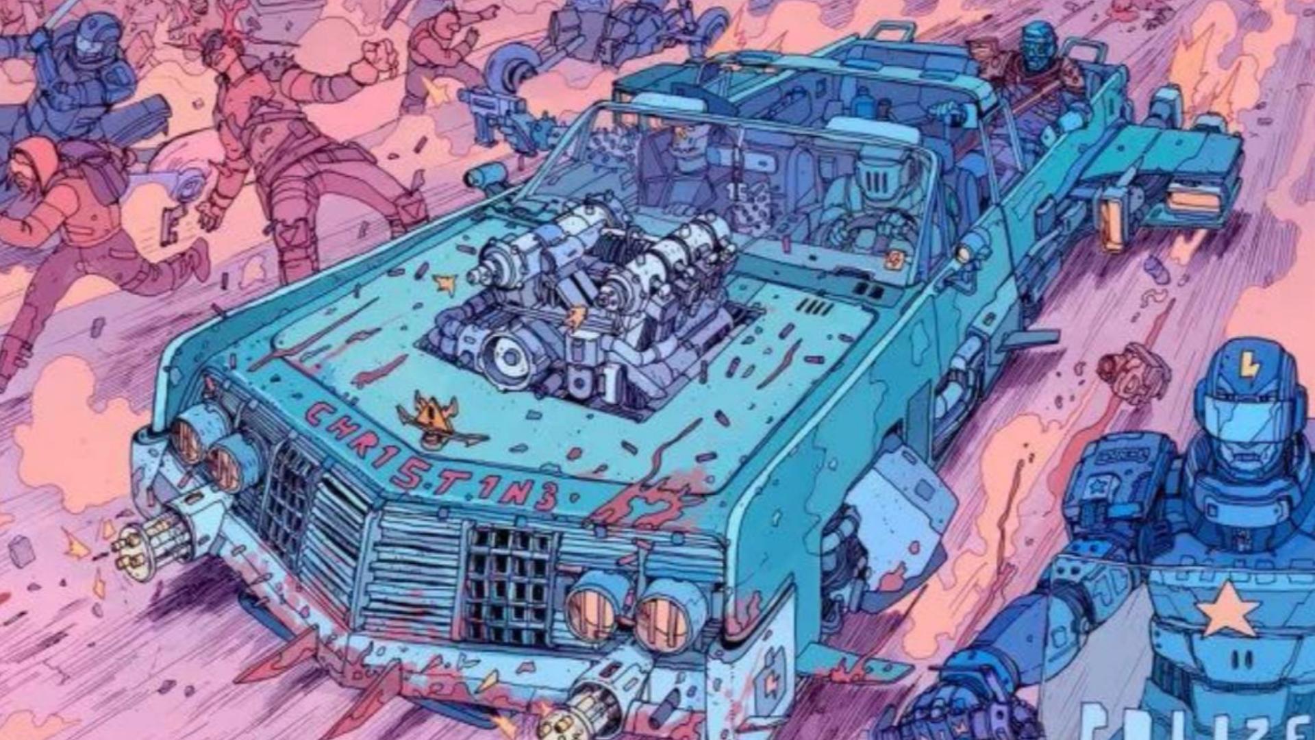 大师级动画吊打当今业界 精美机车作画 80s暴力摩托 复古未来 Synthwave