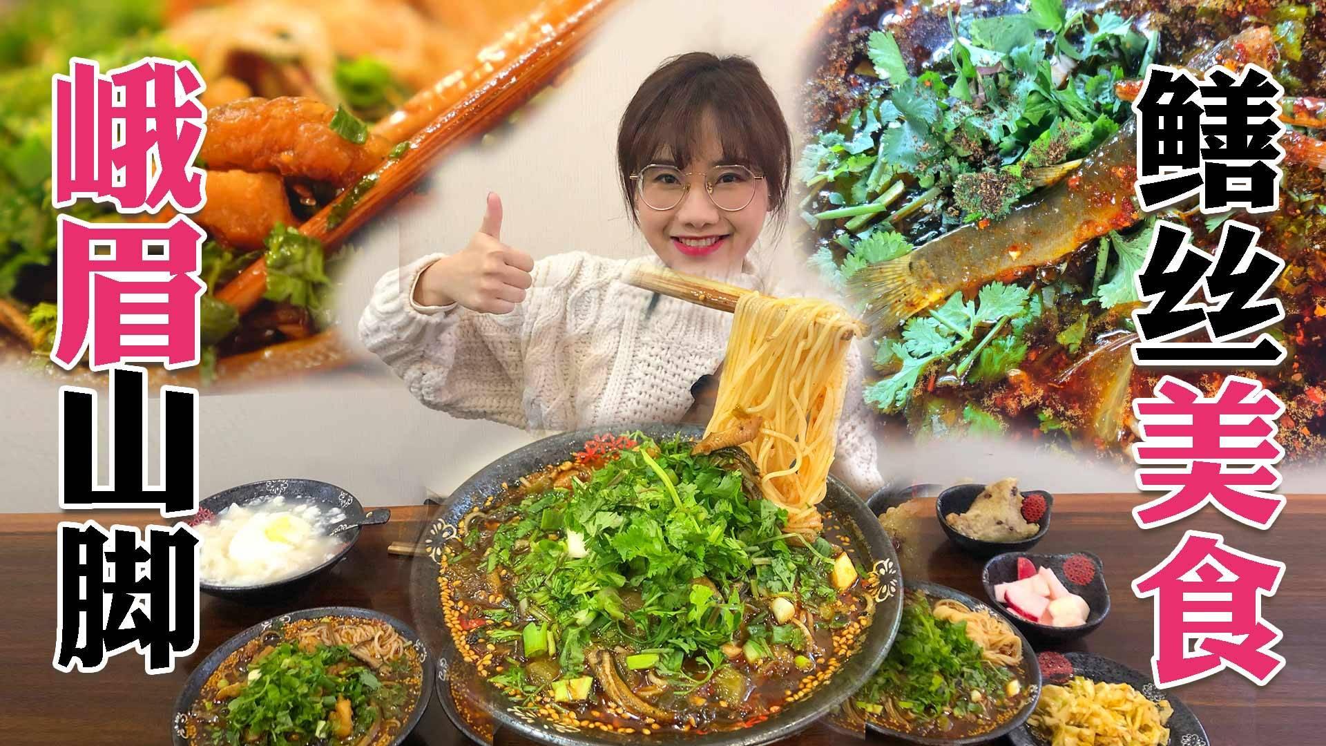 峨眉密食2·这里的鳝鱼米线、熟丝鳝鱼太下饭!乐山油炸串串味儿太足了