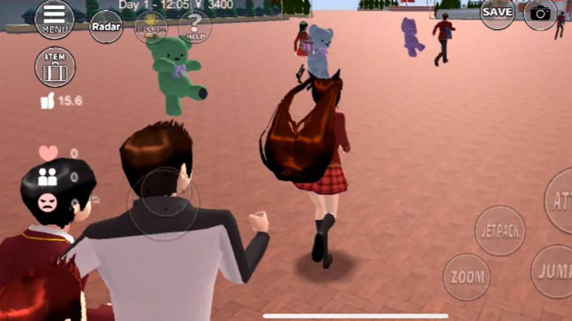 樱花校园模拟器,多米逃课去游乐园不买票还打人,还把同学弄丢了